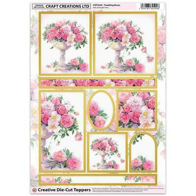 Craft Creation Tumberling Roses Toppers For Cards & Craft