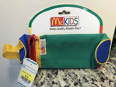 Vintage McDonald's McKIDS '80s NEW WITH TAGS Pencil Case Key Fob Ronald McDonald