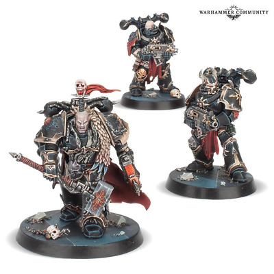 Obsidius Mallex and 2 Chaos Space Marines Warhammer Quest Blackstone Fortress
