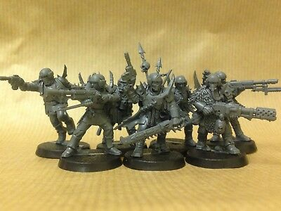 Warhammer Quest Blackstone Fortress 7 Traitor Guardsmen New on Sprue 40K
