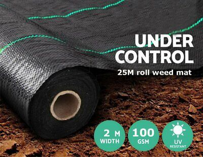 2x25M 100g Weed Control Fabric Garden Landscape Ground Cover Membrane Mulch