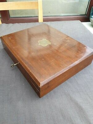 Vintage Wooden Cutlery Box. Lockable With Key