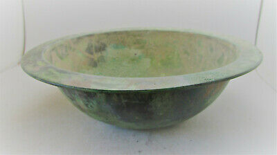 Ancient Roman Bronze Bowl 100-300Ad. European. Large & Impressive Nice Patina