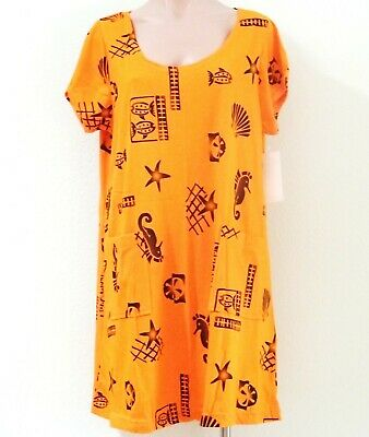 SALE 100% Cotton Short Sleeve Sun Dress/Beach Cover Up w/2 Pockets -Plus Size 2X