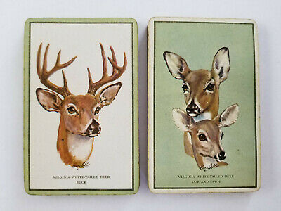 Single Suits (Spades) - Vintage Swap Playing Cards - VIRGINIA WHITE-TAILED DEER