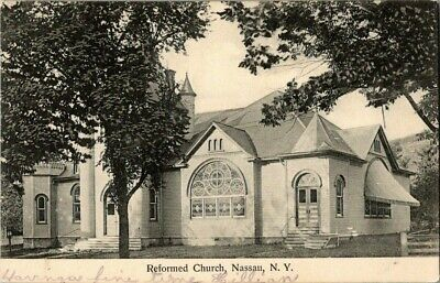 1907. Reformed Church. Nassau, Ny Postcard Ck16