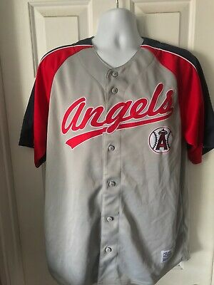 89ee1d43 Los Angeles Angels Men's Large Tri-color S/S Dynasty Embroidered Baseball  Jersey