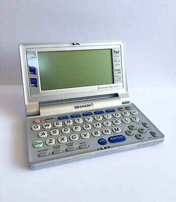 Sharp PW-E300 Electronic Dictionary Handheld Crossword Oxford Thesaurus Working