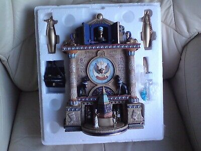 Bradford Exchange Large Treasures Of Ancient Egypt Cuckoo Clock,Boxed.musical.