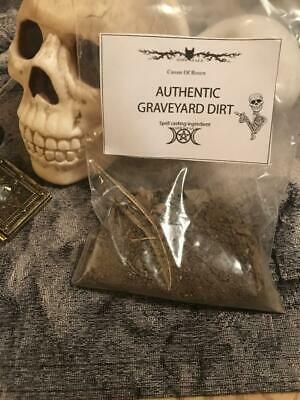 FRESH Authentic Old Cemetary Graveyard Dirt~Witchcraft Voodoo, Casting 3oz