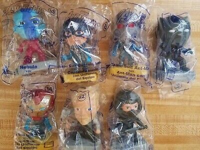Disney Avengers Happy Meal Toys Lot Of 7
