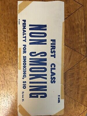 NSWGR Non Smoking First Class Paper Sticker