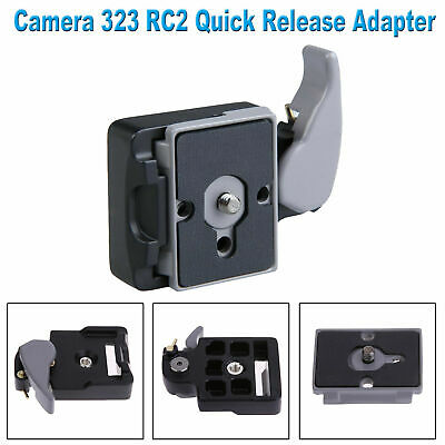 Camera Tripod Head 323 Quick Release Adapter Plate Mount for Manfrotto 200P /GD