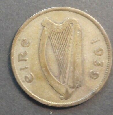 Ireland 1939 Horse Silver Half Crown
