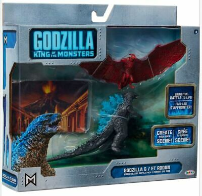 """GODZILLA KING OF THE MONSTERS & RODAN"" Toy Fig Set (2019, Jakks) New!!"