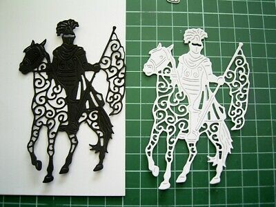 KNIGHT ON HORSEBACK DIE D1047 x Tattered Lace Stephanie Weightman