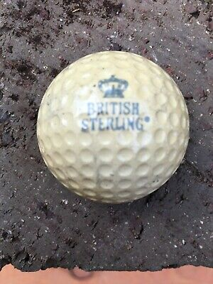 Antique Vintage Golf Ball - BRITISH STERLING.  Cadwell cover.  Extremely Rare!