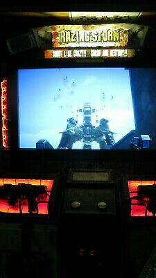 """Namco Razing Storm Time Crisis 60"""" monitor deluxe Arcade game"""