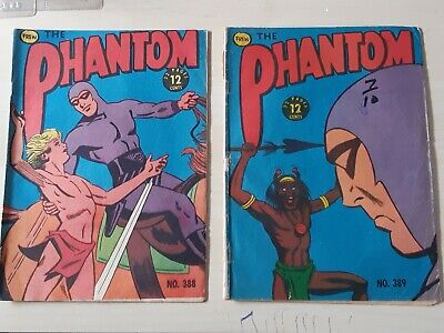 Frew Phantom comic book issues 388 excellent, 389 good condition