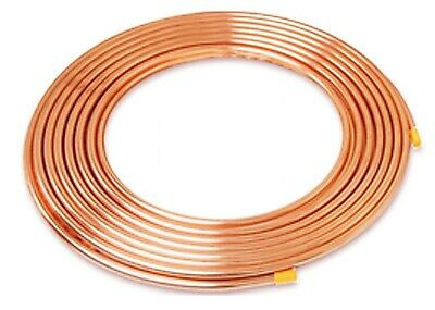 """Copper Refrigeration Pipe 1/4"""" x 0.028 x 15M roll coils to BS EN 12735-1 601002"""