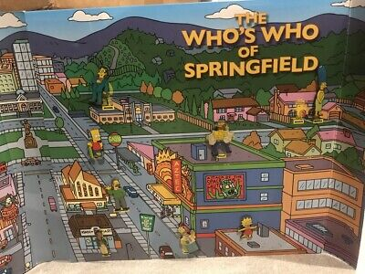 The Simpsons Herald Sun 2006 Who's Who of Springfield Full 16 Pins in Folder