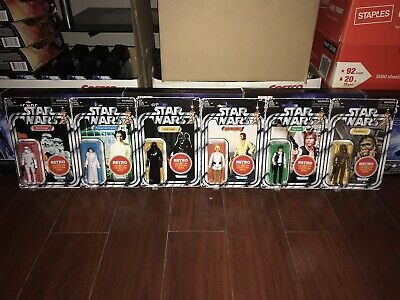 New 2019 Star Wars Retro Collection Vintage Target Exclusive Complete Set Of 7