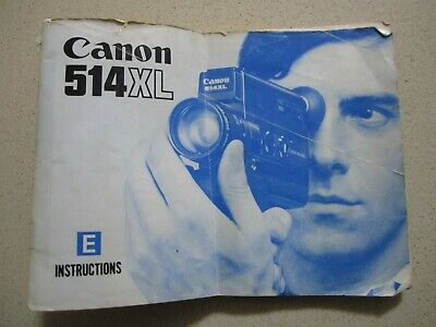 Canon 514Xl Movie Camera Instructions Booklet