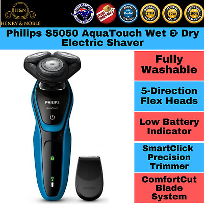 Philips S5050 AquaTouch Wet & Dry Electric Shaver Trimmer Cordless Rechargeable