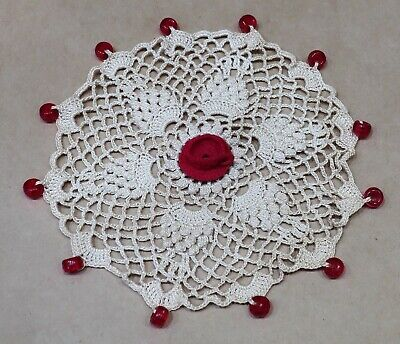 Beautiful Crochet Beaded Jug Cover With Cup & Saucer