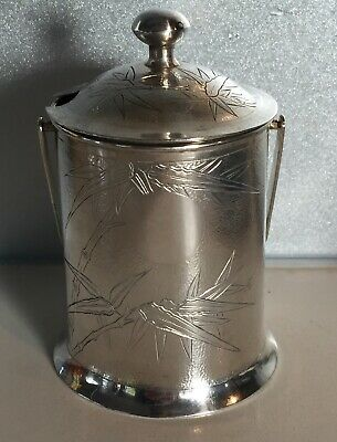 Antiques Chinese Sterling Silver Sugar Jug Bamboo Pattern S.Kwong