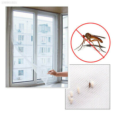 A3F1 DIY Mesh Window Magic Curtain Snap Fly Insect Mosquito Screen Net White