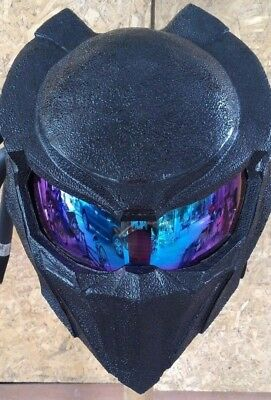 JK25 fancy handmade black predator motorcycle DOT& ECE Real-helmet size S-XXL