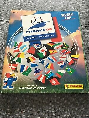 Panini WM 98 Sammelalbum 1998 Album mit Sticker Weltmeisterschaft World Cup