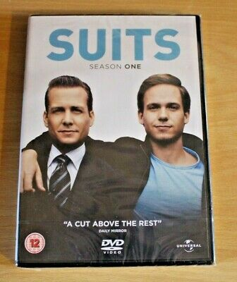 NEW Suits Season 1 Series 1 Season One 4 Disc Dvd Set Regions 2 SEALED FREE Post