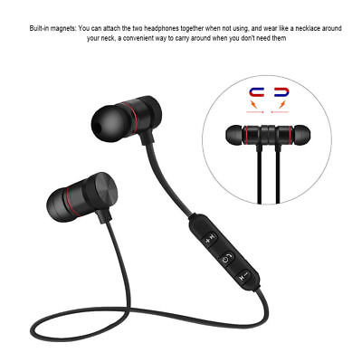 Waterproof Bluetooth Sport Headphones Magnetic Wireless Earphones In-Ear Headset