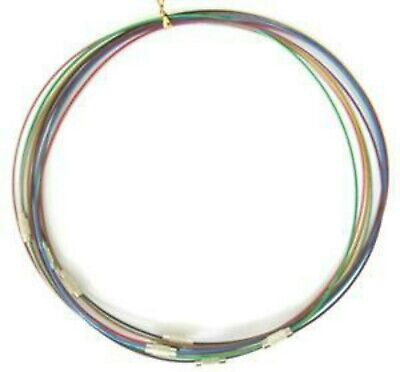 3//6//9  Mixed Colour Wire Necklaces Choker 1mm wide 17 inch long  jewellery makin