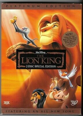 Disney The Lion King Special Platinum Ed. dvd Pre-owned isbn 0788845500