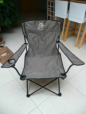 Fauteuil pêche / camping Open Space brun