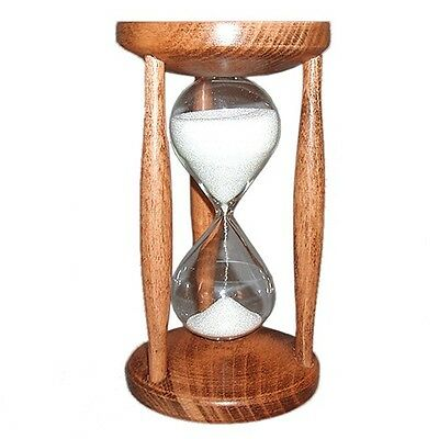 Hourglass Wood Beech Stained 15 Minutes Sand Timers