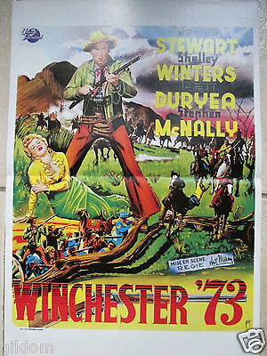 Affichette  Winchester 73 Anthony Mann James Stewart & Winters Cinema 1950