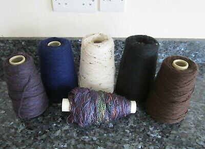 Job Lot Of Mixed Part Cone 4 Ply & Double Knitting Yarn In Various Colours.