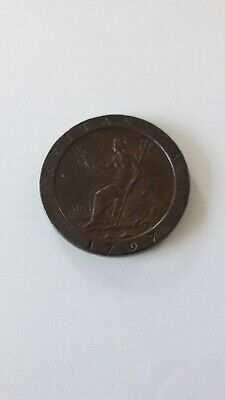 1797 George III  Cartwheel Penny Good Condition And Good Detail.