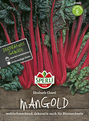 Sperli - Mangold * Rhubarb Chard *81485 Red Stalked Decorative Mangold