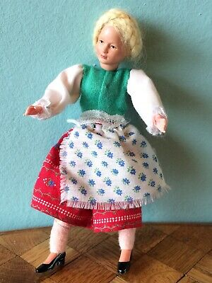 Frau Dirndl Caco Puppenhaus Puppenstube 1:12 dollhouse flexible doll