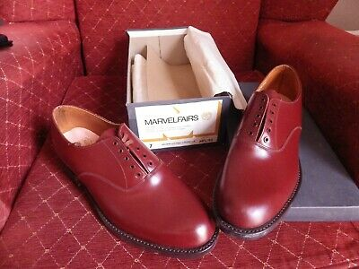 Gent's Vintage Marvelfairs Brown Shoes  Deadstock Size 7 Possible Military Ww2?