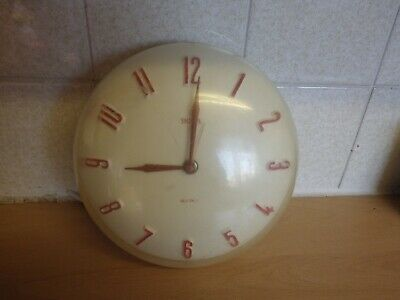 Smiths Sectric Dome Fronted Clock Plastic 50'S Or 60'S Era Pat ~ 744204