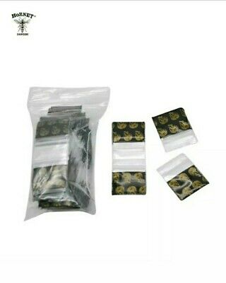 (100)pcs Resealable Zip Lock Poly Small Packing Seal Bags Dark Ghost Head Design