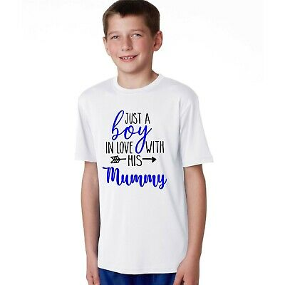 Just a boy in love with her Daddy mummy  kids teens baby t shirt  present
