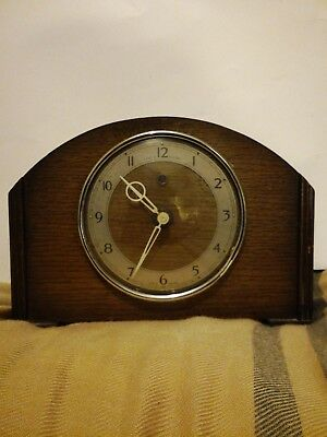 Vitage Art Deco Tenco Mantle Clock ,electric. Unusual christmas present.