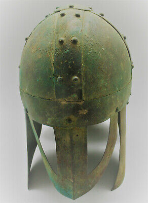 Extremely Rare Ancient Greek Thracian Bronze Berserker Warriors Helmet 500Bce
